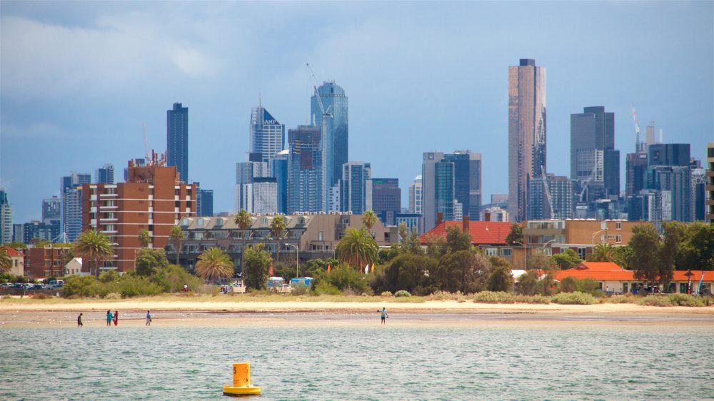Cityscape at St Kilda near Melbourne