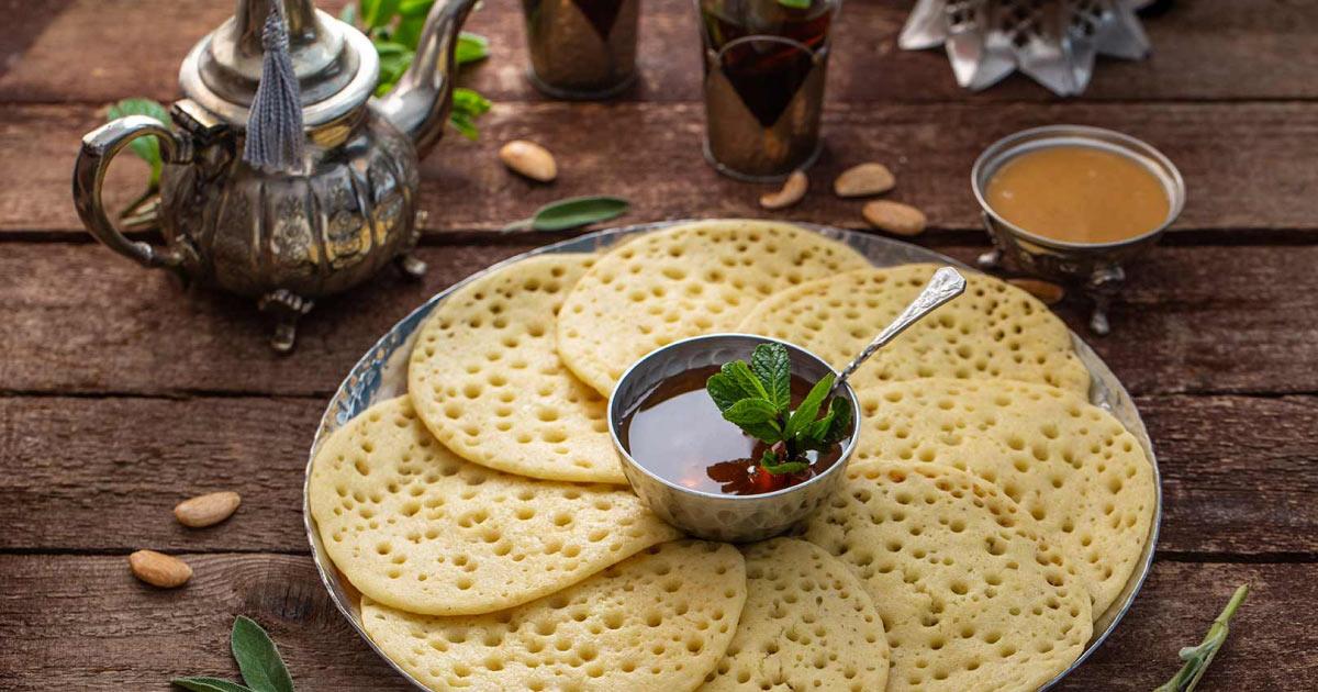 Baghrirand mint tea, Morocco