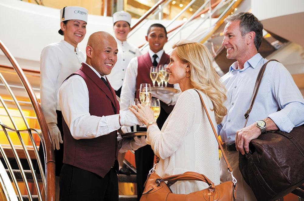Excellent personalized service aboard Regent Seven Seas Cruises