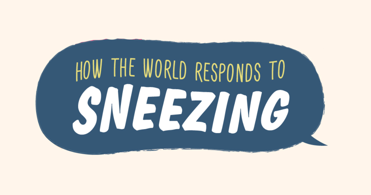 How the world responds to sneezing in their local languages