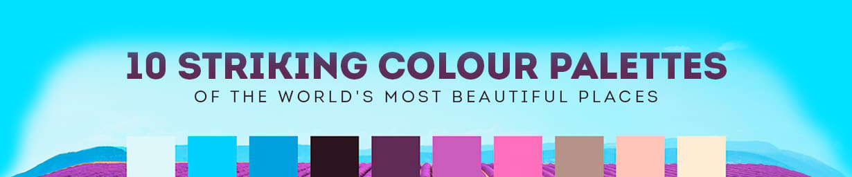 Most beautiful places in the worlds' color palettes
