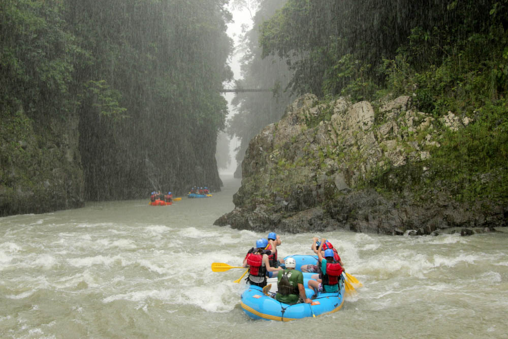 White-water rafting on Rio Pacuare, Costa Rica